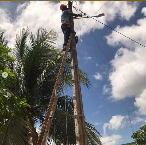 Governo realiza reparos na iluminação do Engenho Pirangi