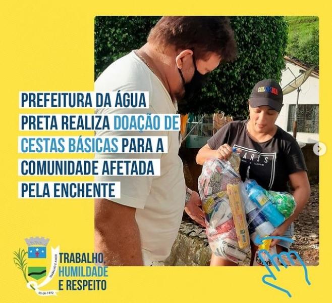 Moradores da Usina Santa Tereza afetados pela enchente recebem cesta básica