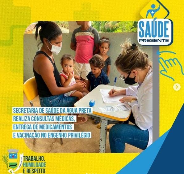 Saúde realiza consultas médicas e vacinação no Engenho Privilégio