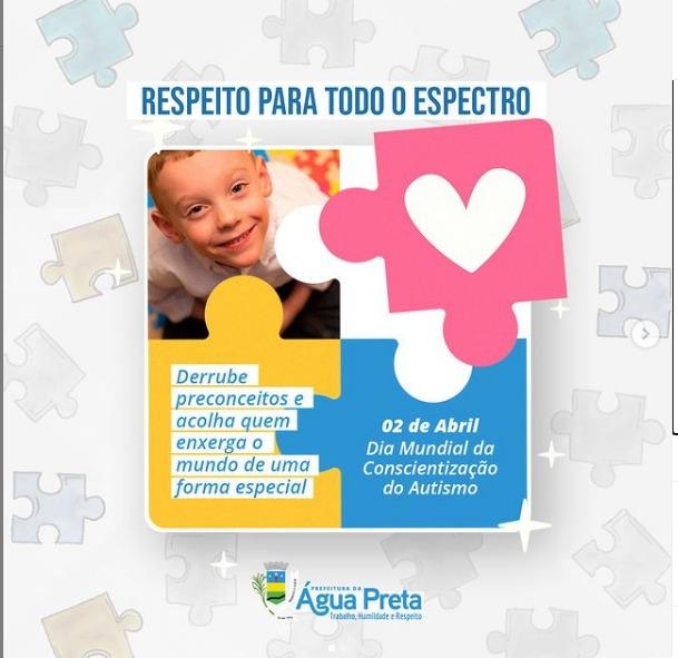 Governo realiza linda campanha de Conscientização do Autismo